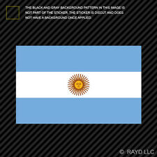 "4"" Argentine Flag Sticker Decal Self Adhesive Vinyl Argentina ARG AR"