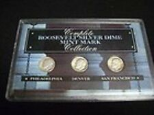 Complete Roosevelt Silver Dime AND Mercury Dime Mint Mark Collection