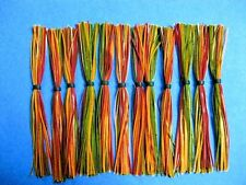 25 Silicone Skirts Gr Pumkin/Or/Red spinner bait bass
