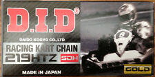 D.I.D. GO KART RACING CHAIN - HTZ SDH NON-O-RING PIN-HARDENED 219 PITCH/114 LINK