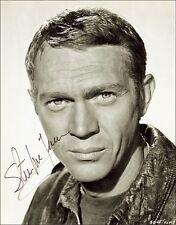 2 x Steve McQueen Autograph Hand Signed Photos Preprint 8x10 Pictures Bullitt