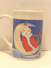 Christmas Mug 4.5 inches tall Snowman Santa Dogs Moon Cup Coffee