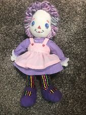 Raggedy Ann Plush And Tall Purple Pink And Multicolored Play