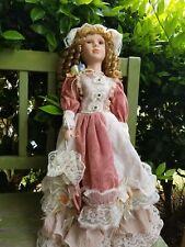 Shakirha Porcelain Collectible Doll with Umbrella 22 inches tall, Nib