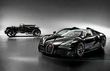 Framed Print - Bugatti Legend 'Black Bess' Veyron Grand Sport Vitesse (Picture)