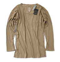 J.Crew - Women's XL - NWT - Honey Brown Drop Shoulder 100% Cotton Pocket Tee