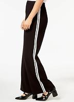 KENSIE New Women's S Black & White Side Stripe Wide Leg Dress Pants $79 NWT