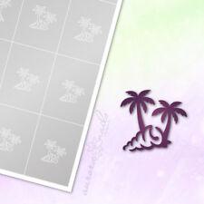 Schablonen für Airbrush und NAILART M497 Urlaub Sommer Strand Palme Muschel