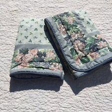 "2 Pillow Shams Laura Ashley Ashbourne Hydrangea Blue Floral Euro 27"" Square"