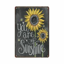 You are my Sunshine Wall Plaque Hanging signs Retro Sun Flower Cafe Home Decor
