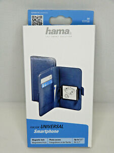 "Hama 177720 Smart Move XL Booklet pass.- 13,0 cm / 5,1"" Universal Blau  (Me57)"