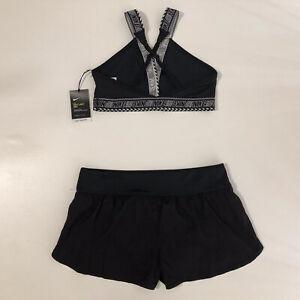 Nike Women's Black Lined shorts/ Indy Light Support Dri-Fit set Of 2 Sz L