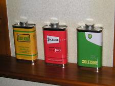 Solexine mit Halter-Benzindose bidon grün 1 Ltr. Velosolex Reservekanister