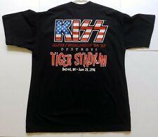 Vintage KISS Band Concert T-Shirt Tiger Stadium Detroit Reunion Tour UNWORN