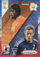 2014 Prizm World Cup Soccer Matchups Blue Red #6 Gervinho/Keisuke Honda