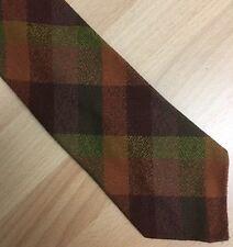 Gents Vintage Checked Scottish Munrospun Wool Tie Fieldsports Shooting