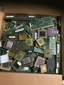 12+ LBS. SCRAP COMPUTER MEMORY RAM CPU's CARDS GOLD RECOVERY ONLY
