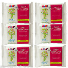 6X Hipp Wet Wipes Tender Pink Caring Large Size Purse Size 10 Cloths Travel