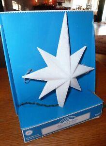 Light-Up LED Christmas Tree Topper Holiday 8 Point Star of Bethlehem White NIB