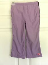 Carters Girls Size 4 Pull On Pants Lined Purple Elastic Waist