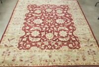 "8' X 10' SUPER HAND-KNOTTED TURKISH OUSHAK ZIGLAR ""FINE WOOL"" KHOTAN CARPET RUG"