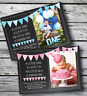 10 Personalised Boy Girl First 1st Birthday Party PHOTO Invitations Invites