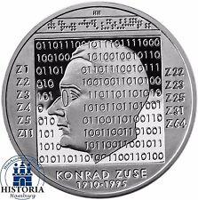 Deutschland 10 Euro Konrad Zuse 2010 Silber-Gedenk-Münze Spiegelglanz