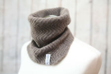 Yak Merino Wool Man Neck Warmer Gaiter Handmade Snood Perfect Gift