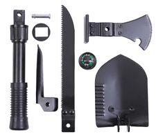 Black 5-In-1 Multi Purpose Military Tool set Shovel Axe Saw Pick Rothco 40