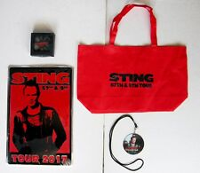 STING 2017 VIP Merchandise Set Includes: Tin Poster – Coasters – Bag - Laminate