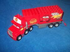 Lego Duplo Cars Mack auf großer Fahrt aus 5816 LKW ANHÄNGER Auflieger Klappe Rot