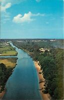 Rehoboth Lewes Canal Aerial View Delaware DE Postcard
