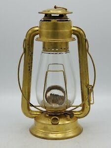 Antique Kerosene Tubular Brass Dietz Junior Lantern Bullseye Globe