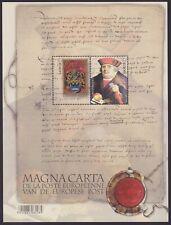 Belgique 2016 Cob 4599/4600 LA MAGNA CARTA DE LA POSTE Bloc BL237 - MNH....A6075