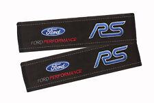 2 pcs. FORD RS Premium alcantara Seat belt shoulder pad, cover pad for seatbelt