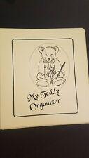 My Teddy Bear Collection Organizer 3 RING BINDER w/ INVENTORY PGS & STORAGE PKTS