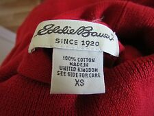 Eddie Bauer Red Short Sleeve 100% Cotton Turtleneck~Size XS~Drop Dead Gorgeous