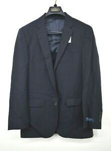 Brooks Brothers Mens Navy Suit Jacket 2 Button Notch Lapel Wool Milano Fit 38R