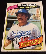 DAVE LOPES 1980 Topps  ERROR Yellow WASH Team & Position Variation #560  RARE SP