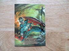 2008 SKYBOX MARVEL MASTERPIECES CAPTAIN AMERICA CARD SIGNED DAVE DEVRIES ART,POA