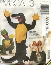 McCall's Sewing Pattern 3809 Costume Alligator Frog Mermaid Adult Small Uncut
