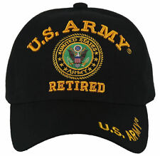 NEW! US ARMY RETIRED ROUND BALL CAP HAT BLACK