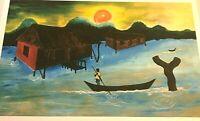 Unknown Artist, IJOW DWELLING, African American Black Art Print, Unframed
