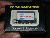 N Gauge Graham Farish 2411 ANGLO GUM TWIN VENTED COVERED WAGON BOXED
