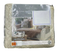 Home Details Quilted Reversible Furniture Protector Slipcover Recliner