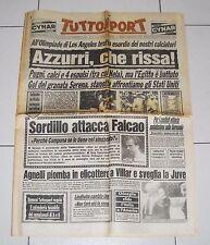 Tuttosport OLIMPIADI LOS ANGELES 1984 ITALIA EGITTO 1-0 - 31 Luglio Azzurri