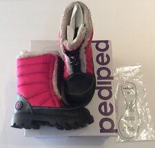 Pediped Flex Harper Toddler Girls Size 7.5 Pink Winter Boots NIB