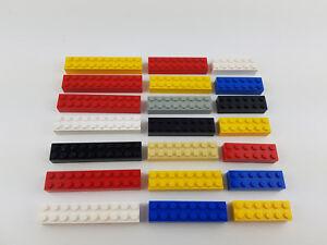 Lego® 21 hohe große lange Basic Steine Bausteine 7x12 7x16 7x20 Noppen gereinigt