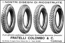 PUBBLICITA' 1926 GOMME MICHELIN PIRELLI ENGLEBERT DUNLOP F.LLI COLOMBO AUTO MOTO