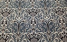 """MAGNOLIA HOME WINCHESTER MIDNIGHT IKAT SLATE FURNITURE FABRIC BY THE YARD 54""""W"""
